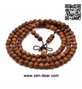 Zen Dear Unisex Teak Wood Prayer Beads Buddha Buddhist Beads Japa Mala Necklace Bracelet Beads (6mm x 8mm x 108 beads)