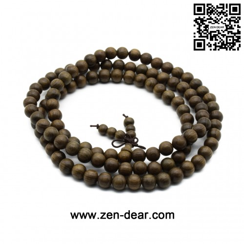 Zen Dear Unisex Burried Ebony Prayer Beads Buddha Buddhist Prayer Beads Meditation Mala Necklace Bracelet (8mm 108 beads)