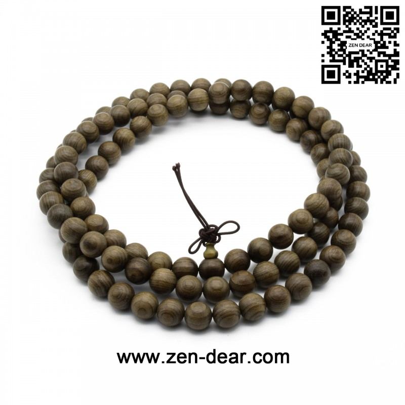 Zen Dear Unisex Burried Ebony Prayer Beads Buddha Buddhist Prayer Beads Meditation Mala Necklace Bracelet (10mm 108 beads)