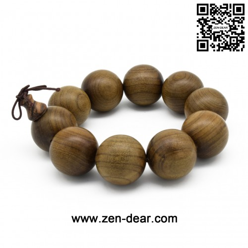 Zen Dear Unisex Burried Ebony Prayer Beads Buddha Buddhist Prayer Beads Meditation Mala Necklace Bracelet (2.5mm 10 beads)