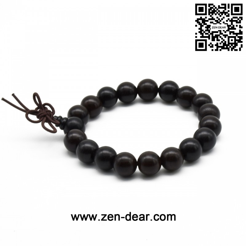 ebony bracelet meditation wood beads necklace item sunyik buddhist prayer black mala
