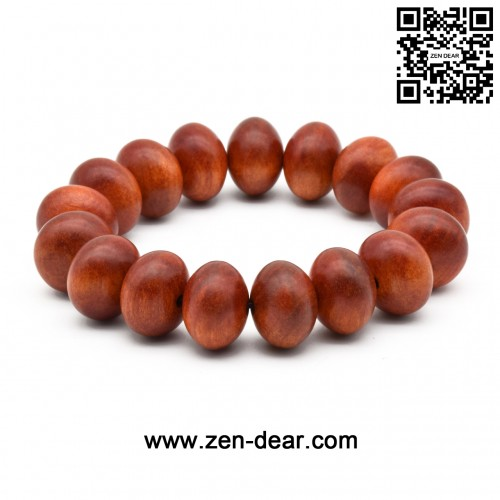 Zen Dear Unisex Natural Blood Dragon Wood Buddhist Prayer Beads Bracelet Necklace Red Agathis King of Wood Mala Beads (1.8mm x 1.2mm x 17 Beads)