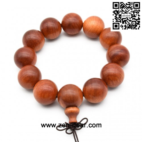 Zen Dear Unisex Natural Blood Dragon Wood Buddhist Prayer Beads Bracelet Necklace Red Agathis King of Wood Mala Beads (20mm 12 Beads)