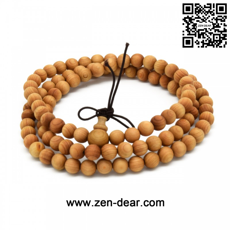 Zen Dear Unisex Natural Thuja Sutchuenensis specially Wood Beads Bracelet Prayer Mala Bracelet (6mm 108 Beads) - Men Fashion Jewelry  - Zen Dear Jewelry Store