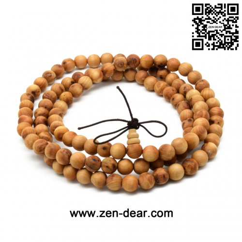 Zen Dear Unisex Natural Thuja Sutchuenensis specially Wood Beads Bracelet Prayer Mala Wristband Bracelet (8mm 108 Beads)