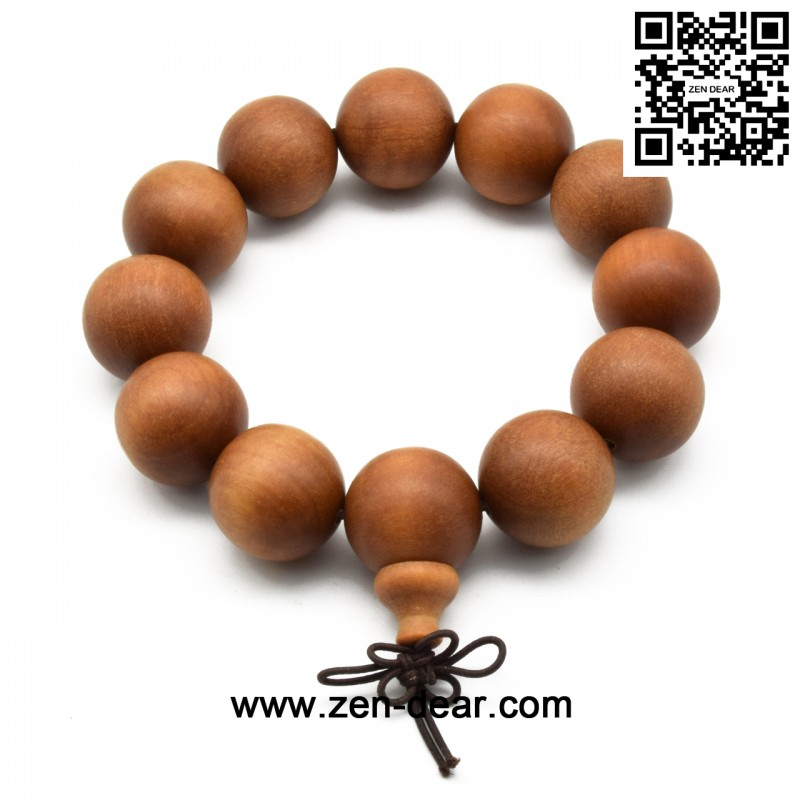 Zen Dear Uni Teak Wood Prayer Beads Buddha Buddhist A Mala Necklace Bracelet 20mm