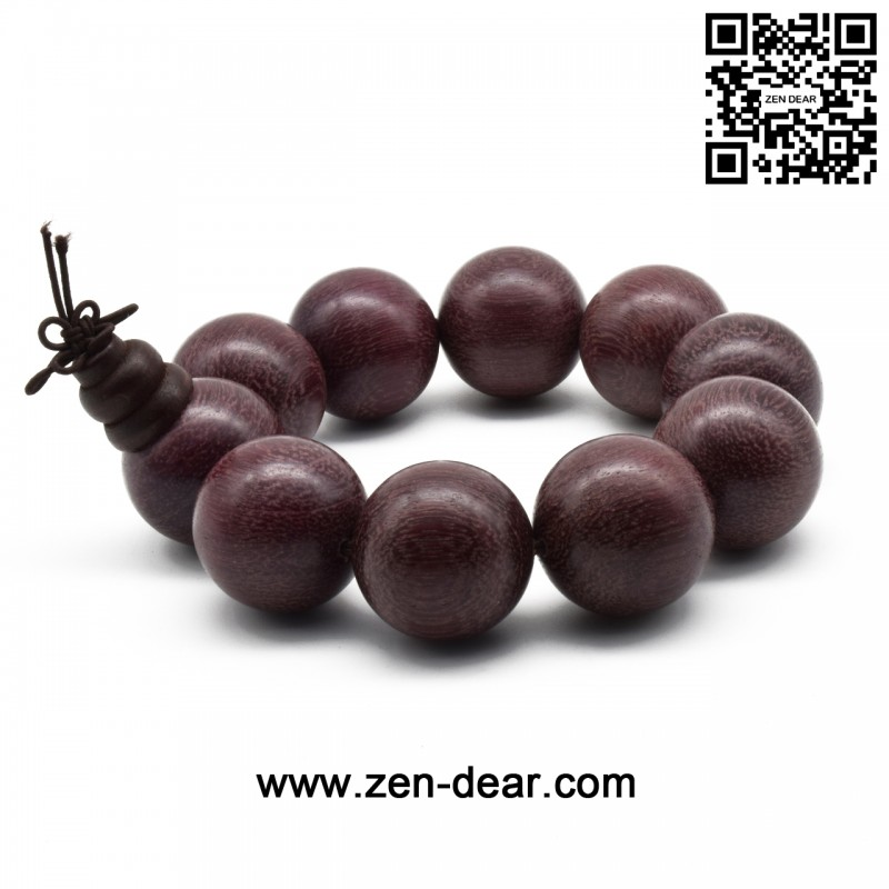 Zen Dear Uni Natural Violet Wood A Mala Beads Bracelet Tibetan Buddhist Beaded Prayer